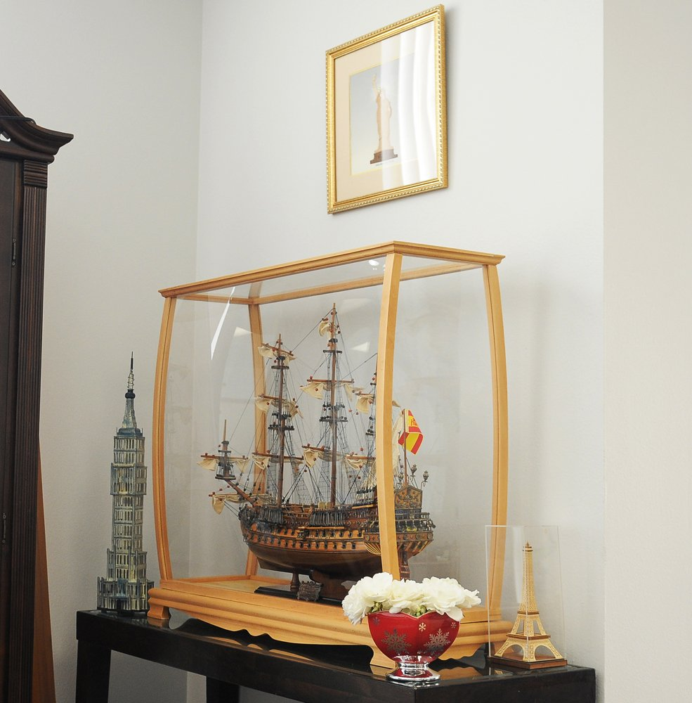 Old Modern Handicrafts P033 Display Case for Midsize Tall Ship Clear Finish by Old Modern Handicrafts (Image #1)