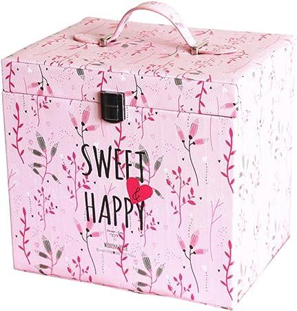 Caja de Regalo portátil Cube Caja de Embalaje Infantil Rosa Aniversario: Amazon.es: Hogar