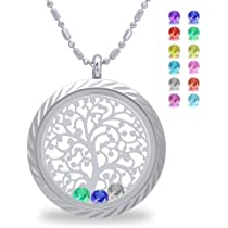 Corykeyes 10pcs Blue Style Mom Family Mothers Day Floating Charms for Glass Living Memory Locket Necklace