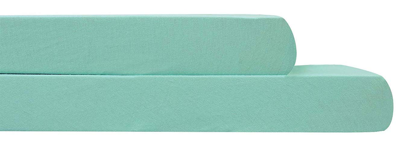 Amazon.com: AURAA Baby Fitted Crib Sheets Set, 2 Pack Crib Mattress Topper for Baby Boys Girls,Ultra Soft, Full Standard (Aqua): Home & Kitchen