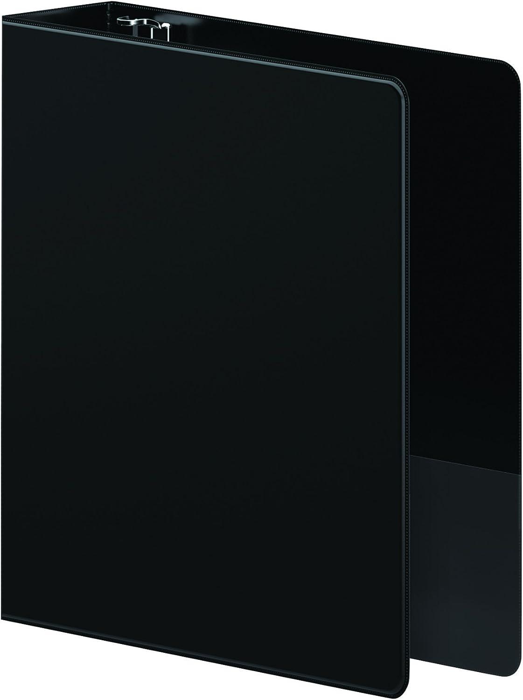 Black 2 Cap Wilson Jones 38444B Heavy-Duty D-Ring Binder w//Extra-Durable Hinge
