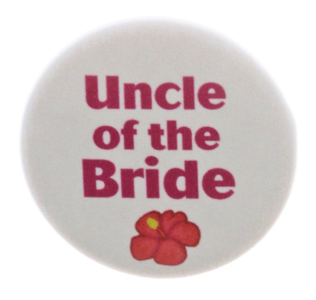 花嫁の叔父トロピカルフラワーマグネットハワイアンウェディングテーマブライダルパーティー 2.25