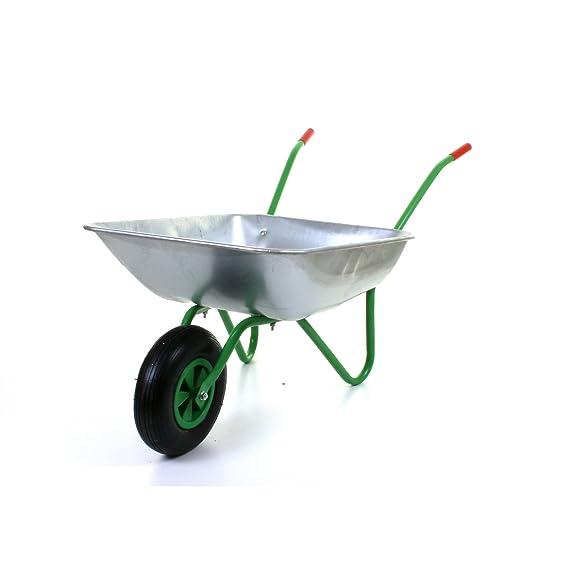 Marko Tools Green 65L Metal Heavy Duty Galvanised Wheelbarrow