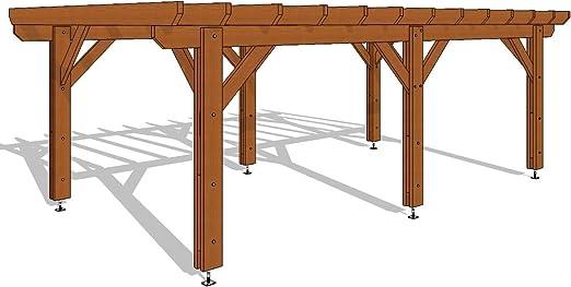 Pergola Plate - Kit de pérgola 690-400 de 27 m2, calidad superior ...