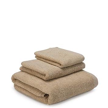 BB.er Juego de Toallas de baño de algodón Juego de Toallas absorbentes, café: Amazon.es: Hogar