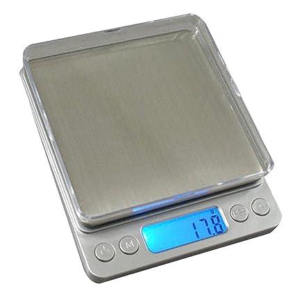 Sharplace Balanzas Electrónicas Bandeja de Pesaje Accesorios de Decoración Hogar Comedor Exterior Patio