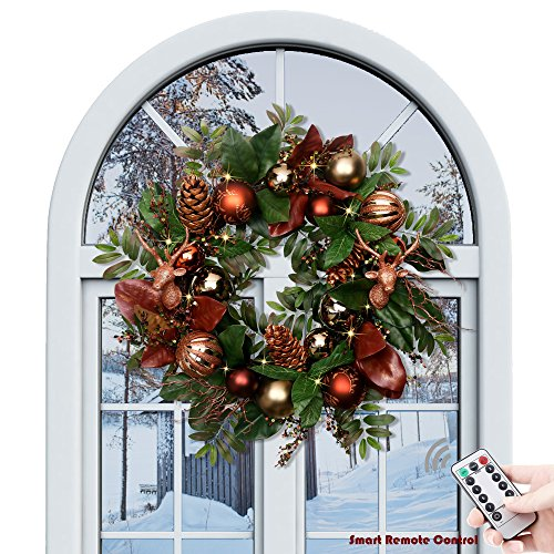 Gold Christmas Wreath (Valery Madelyn Pre-Lit 24