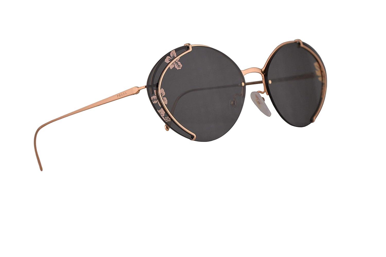 23fc4b5b6ce2 ... canada amazon prada pr60us sunglasses pink gold w dark grey tamp  ibiscus rose gold 63mm lens