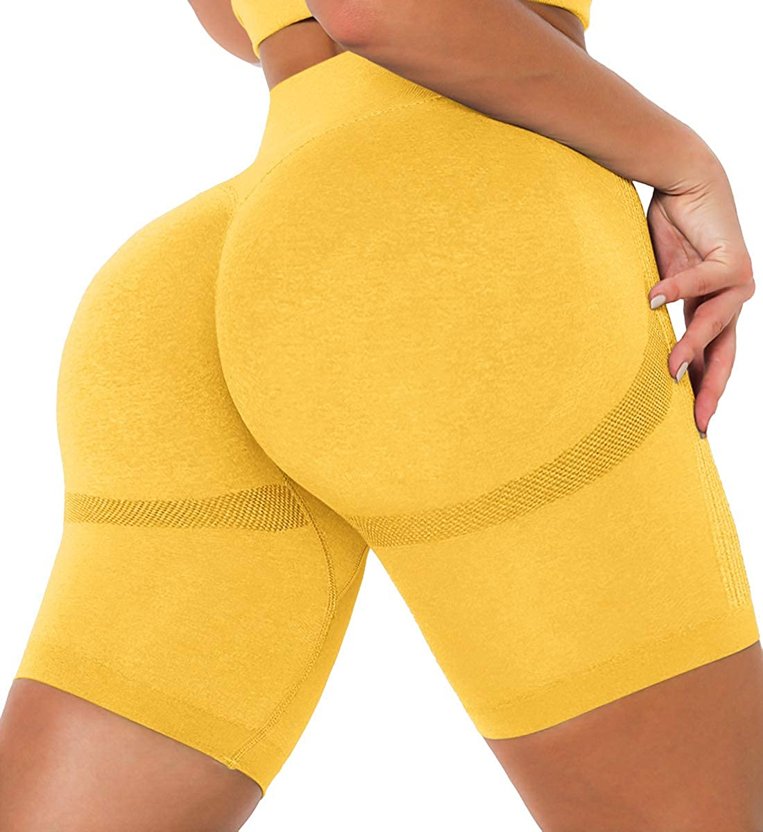 JANVUR Women's Anti Cellulite Shorts BootyButt Lifting Scrunch Yoga Shorts Booty Ruched Textured Sexy Workout Leggings