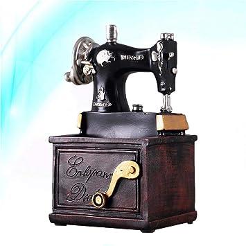 THREE 1 UNID Vintage Práctico Creativo Retro Decorativo Máquina de Coser de Resina Pluma Titular Decoración para El Hogar Adornos Regalos, A: Amazon.es: Hogar