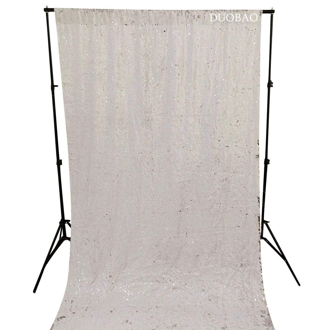DUOBAO Sequin Backdrop 20FTx10FT White to Silver Wedding Pics Backdrop Mermaid Reversible Sequin Photo Backdrop Baby Shower Curtains by DUOBAO (Image #4)