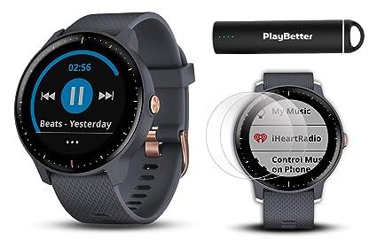 56a65ff62 Garmin vivoactive 3 Music GPS Watch Power Bundle | with HD Screen  Protectors (x4)