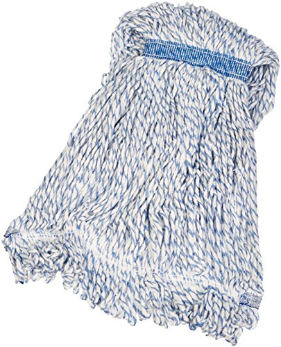 AmazonBasics Loop-End Rayon Finish Commercial String Mop Head, 1.25 Inch Headband, Medium, 6-Pack