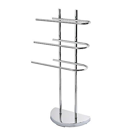 Toallero con 3 barras para toallas bremermann® Metal cromado