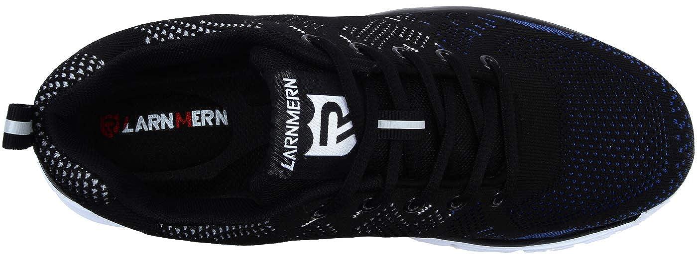 LARNMERN Zapatos de Seguridad para Hombre con Puntera de Acero Zapatillas 43 EU, Azul Negro Ligeros y Transpirables Zapatos de Entrenamiento prevenci/ón de pinchazos LM-112
