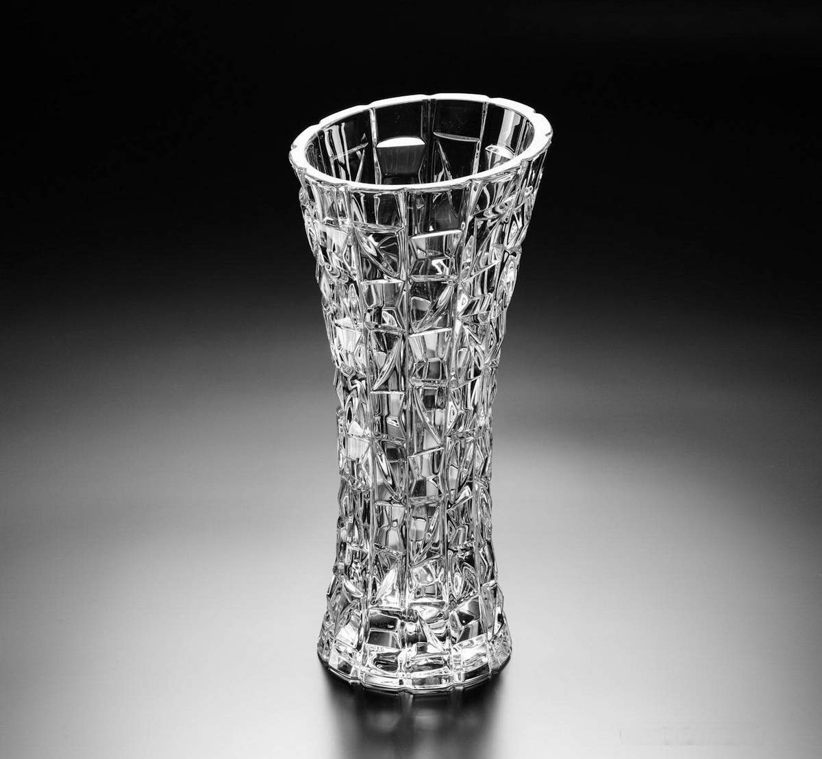 NGEL Glass Flower Pot, Crystal Clear Vase for Living Room/Home/Office