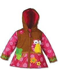 Stephen Joseph Rain Coat, Owl, Pink, Size 5/6
