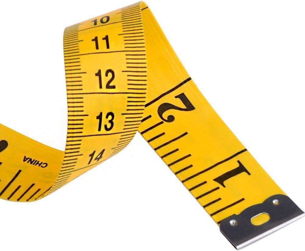 DaoRier 3m Gelb fiberglass Ma/ßband bandma/ß f/ür H/öhenmessung Kleidung schneiden