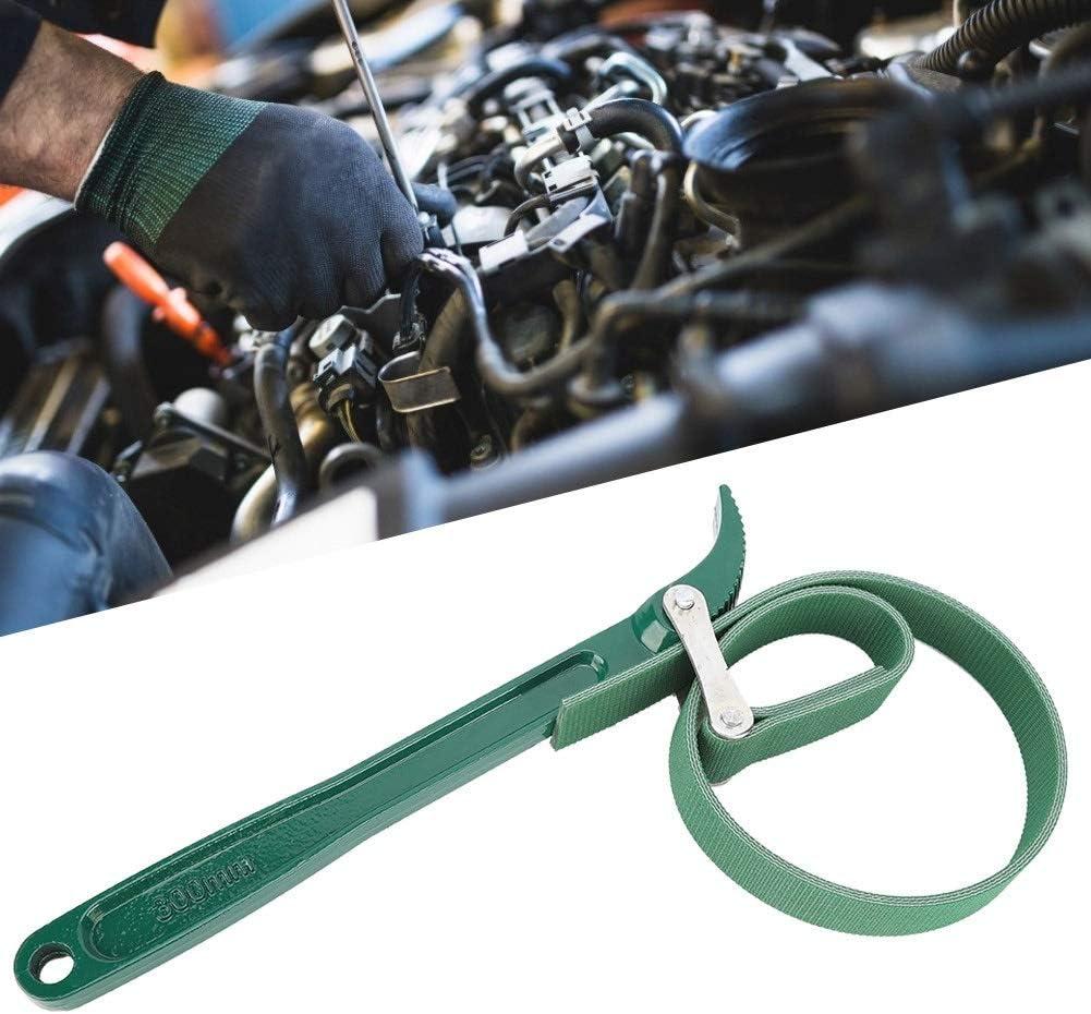 Solomi Bandschlüssel Ölfilterschlüssel Edelstahl Anti Rutsch Auto Gurt Typ Ölfilterschlüssel Auto Reparatur Spanner Werkzeug 12 Zoll Grün Auto