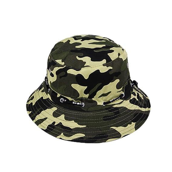 Leisial Sombrero de Pescador Camuflaje del Ejército de ala Ancha Borde  Redondo Anti-UV Algodón 338580b40a8