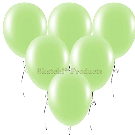 25pk Of 10in Neon Light Green Latex Balloons Birthday Wedding All Occasions  Party Decorations