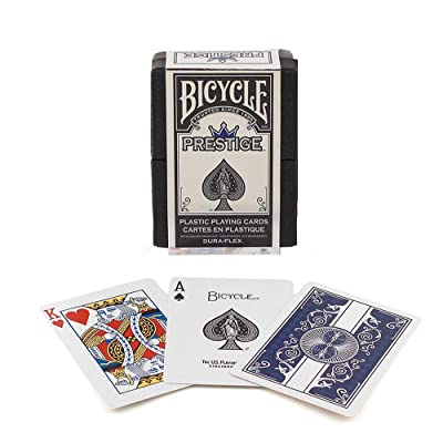 Bicycle Prestige Dura-Flex Playing Cards (Colors May Vary): Toys & Games