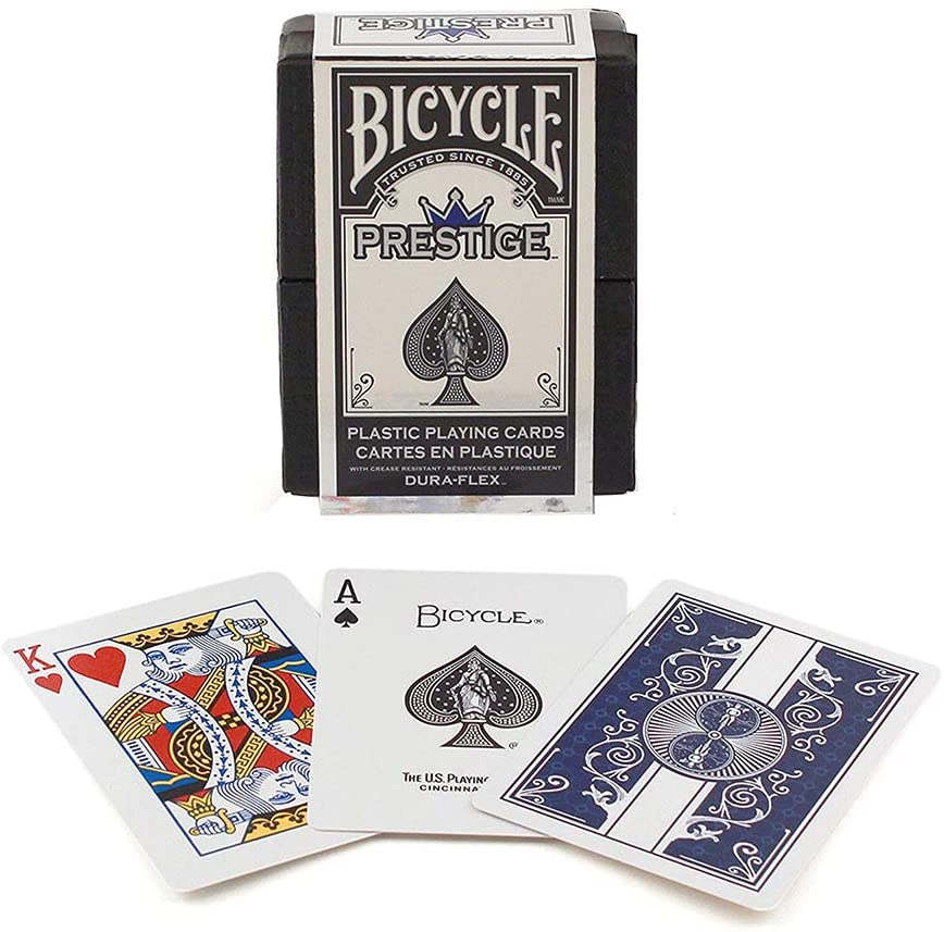 Bicycle Prestige  Playing Cards Red or Blue 100/% Plastic cards!