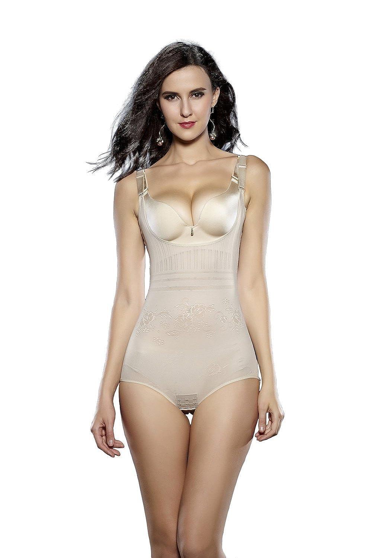 Bllatta Women's Seamless Body Shaper Open Bust Shapewear Firm Control Bodysuit-Your Own Bra Slimmer Shapewear Bodysuits