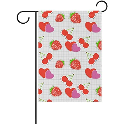 Amazon com : Heart Cherry Strawberry Double-Sided Printed