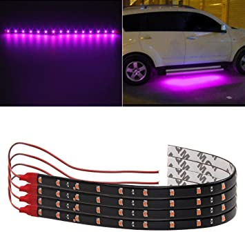 2 x 30cm//15LED SMD 3528 Waterproof Flexible Light Strip 12V DC for Car Vehicle