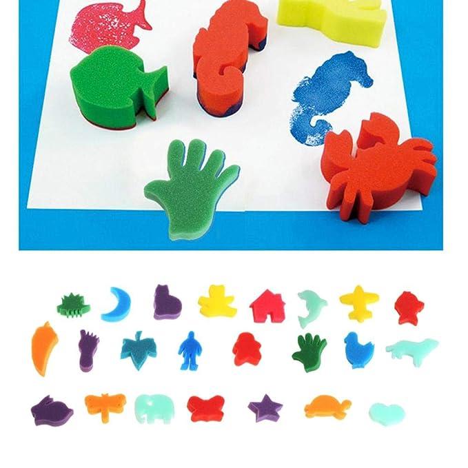 Pintura Manualidades Set Con Esponja Para Niños De 35qR4AjL