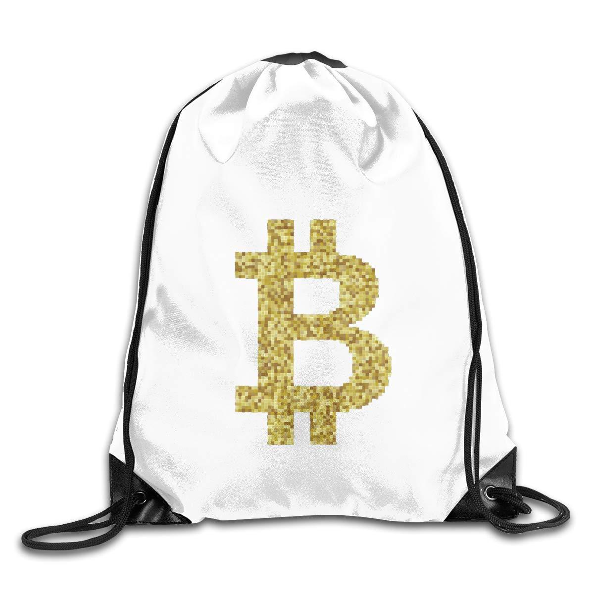 Bitcoin Logo Bitcoin Sign Drawstring Bags Eat Sleep Dance Repeat Beam Mouth Backpack Basketball Tennis Gympack