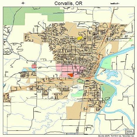 Corvalis Oregon Map.Amazon Com Large Street Road Map Of Corvallis Oregon Or