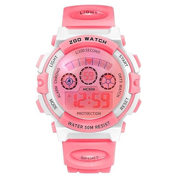 reluciente reloj de tiempo del niño/Estudiante baño impermeables relojes digitales-E: Amazon.es: Relojes