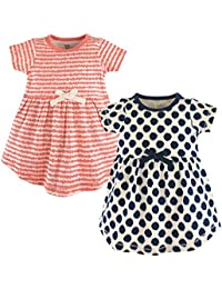 Baby Girls 2-Pack Organic Cotton Dress, Scribbles, 5 Toddler
