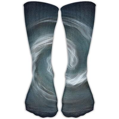 YUANSHAN Socks Cloud Rotation Spiral Ring Women & Men Socks Soccer Sock Sport Tube Stockings Length 11.8Inch