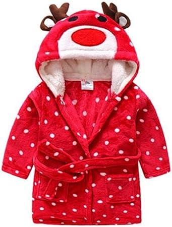Enfants Peignoir Robe de Chambre Flanelle No/ël Renne Pyjamas Gar/çons Filles Chemise de Nuit