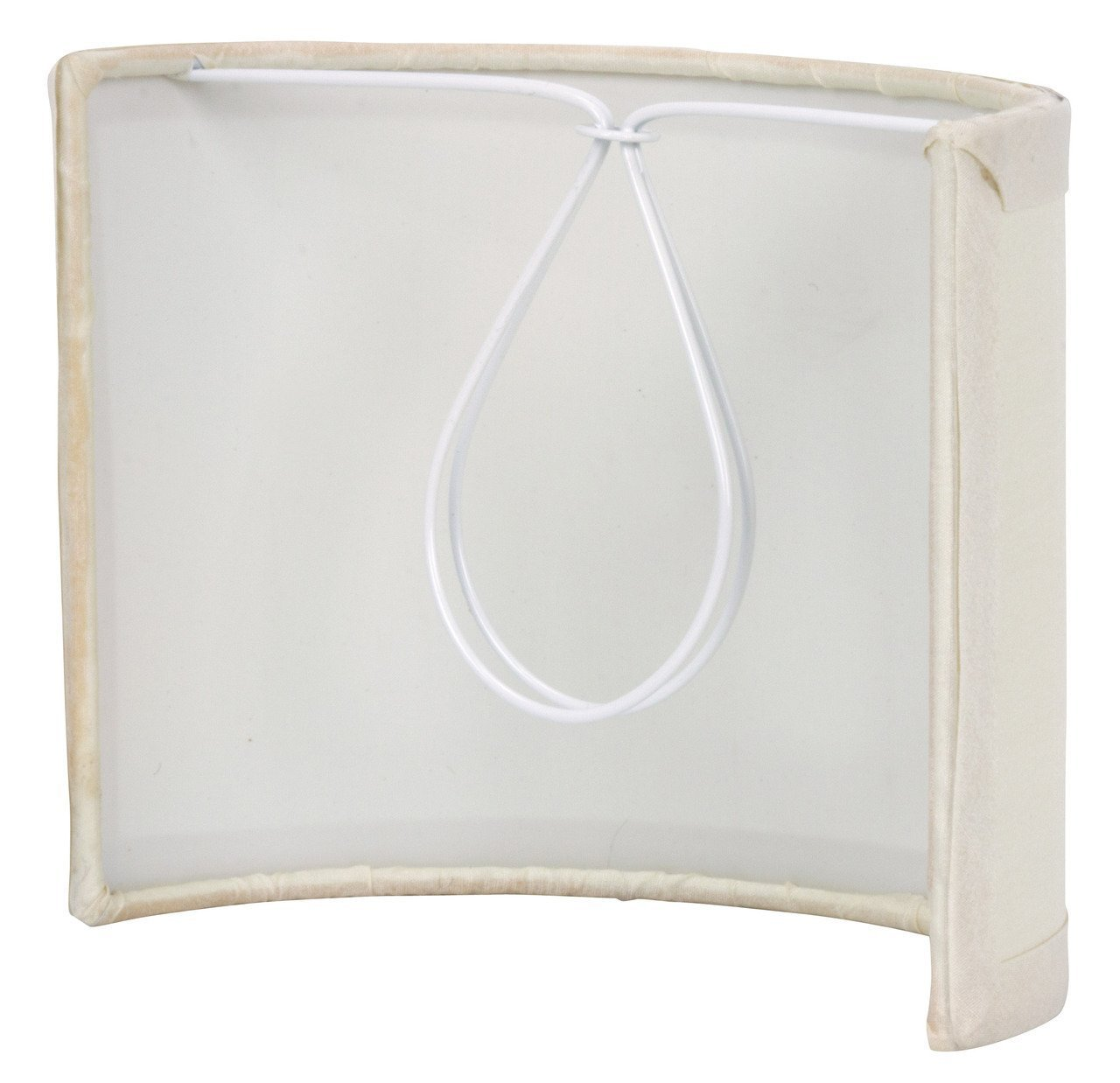 Upgradelights 6 Inch Clip On Wall Sconce Shield Half Lampshade 6x6x5 (White Silk)