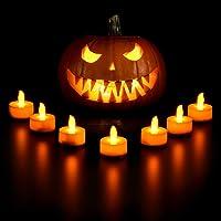 VicTsing 24 Velas de LED Decorativas con Efecto Llama, Pilas Incorporadas de 100 Horas para Hogar, Jardín, Baño, Boda…