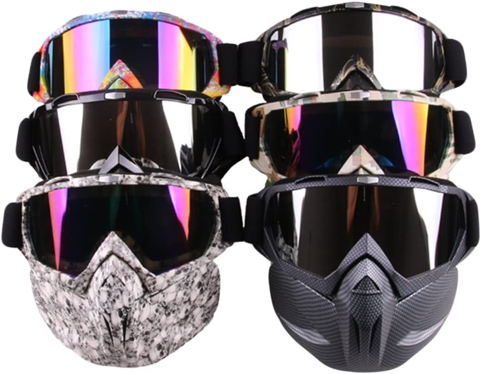 CyberDyer Windproof Motorcycle Safety Goggles Full Face Mask Ideal for Riding Snowmobile Skiing Or Halloween Party