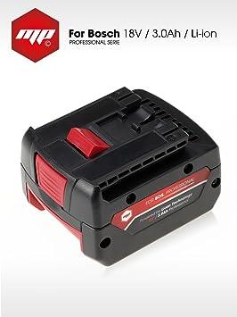 MP EXTRA Batería para Bosch Destornillador Taladro 18V / batería/Ref ...