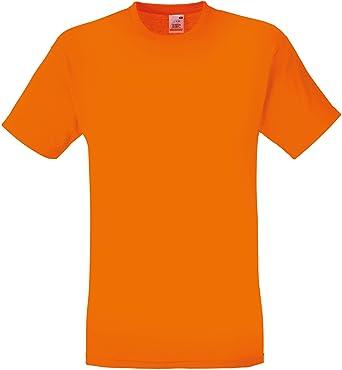 e42f299e Fruit of the Loom Childrens T-Shirt - Orange 5/6: Amazon.co.uk: Clothing