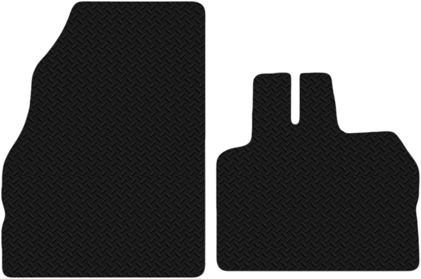 Carsio Black Floor Rubber Tailored Car Mats 3mm 4pc Set TO FIT Onwards Renault Clio 2009