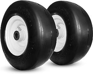 New 11x4.00-5 Flat Free Smooth Tire w/Steel Wheel for Zero Turn Lawn Mower Garden Tractor -hub Length 3
