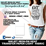 MOUSE PADS PURPLE LINE IRON ON TRANSFER PAPER 8.5 X 11'' CUSTOM PACK 100 SHEETS HEAT PRESS AND HAND IRON