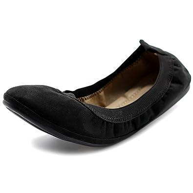 Ollio Women's Shoe Faux Suede Comfort Ballet Flat BN16(6 B(M) US