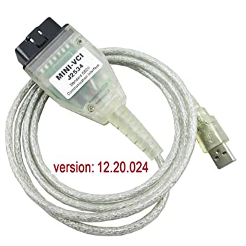 Mini VCI J2534 TIS Techstream Cable Car OBD2 Diangostic Cable for Toyota
