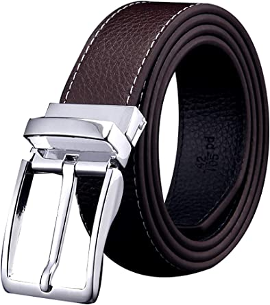 CAMEL Mens Belt Genuine Leather Dress Belt with Adjustable Prong Buckle for Casual Bussiness in Gift Box
