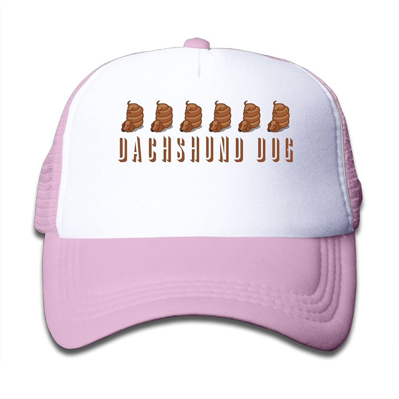 Caps VF4 Dachshund Dog Baby Boys AdjustableTrucker Visor Cap Cute ... 297503ec9b76