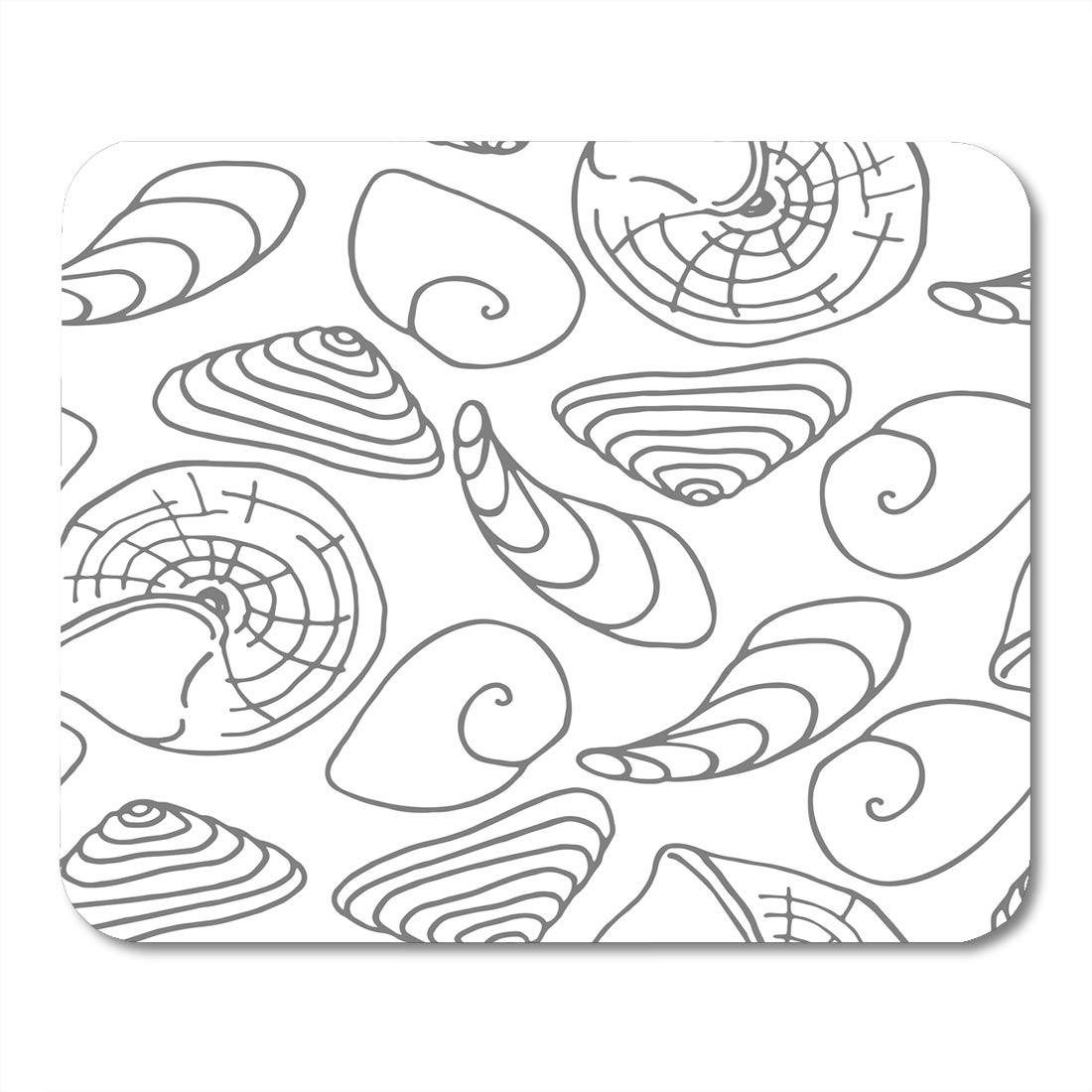 Emvency mouse pads abstract sea shells animal aquatic beauty different drawing mousepad 9 5 x 7 9 for laptopdesktop computers accessories mini office